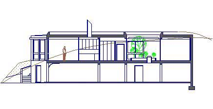 Cross section of subterranean private residence - Georgetown, Washington DC